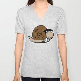 French Snail ~ Escargot Unisex V-Neck