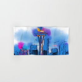 The Space Needle In Soft Abstract Hand & Bath Towel