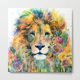 Garden of the Wild ~ LION Metal Print