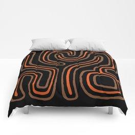 Tribal Maze I - Terracotta Comforters