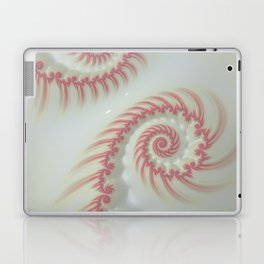 Candy Cane Swirl Pastel - Fractal Art Laptop & iPad Skin