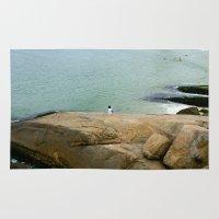 rio de janeiro Area & Throw Rugs featuring Rio de janeiro Beach by Tatiana Mab