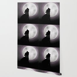 Howling at the moon Wallpaper