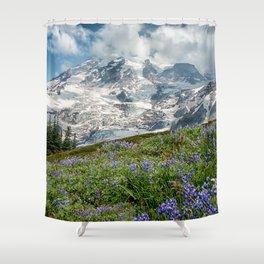 Scenic Landscape Art, Mt. Rainier, Mt. Rainier National Park, Paradise Shower Curtain