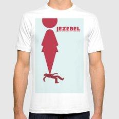 Essence of Jezebel MEDIUM White Mens Fitted Tee