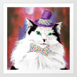 The Oreo Cat Art Print