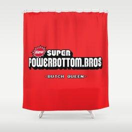 BQ - Super Power Bottom Bros Shower Curtain