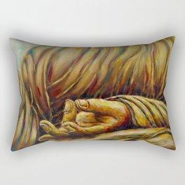 """""""Healing Hands- Aakash Mudra, Gesture of View """" Rectangular Pillow"""
