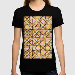 Cute Citrus Geometric Quilt Design Pattern T-shirt