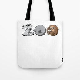 Zoo Keeper Zoologist Kids Animal Alphabet Gift Tote Bag