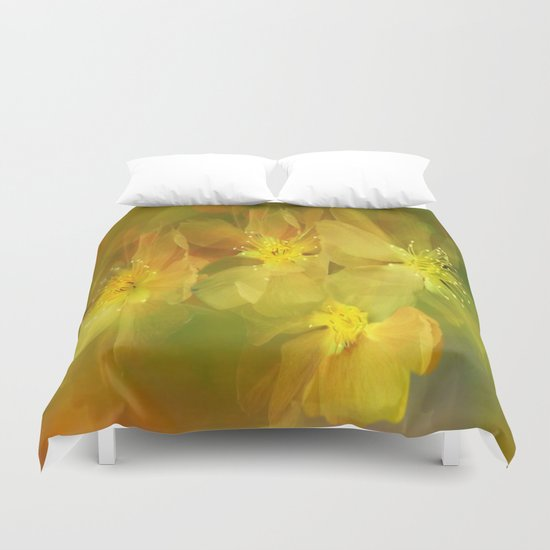Early Morning Floral Abstract Duvet Cover