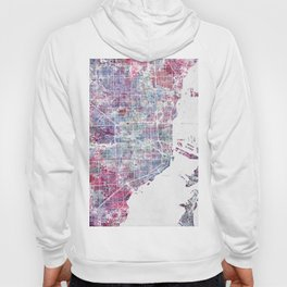 Miami map Hoody