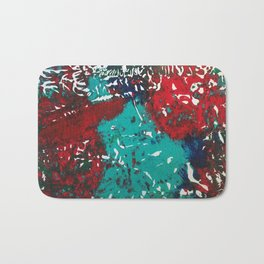 Abstracted Wolf and Kitten Bath Mat