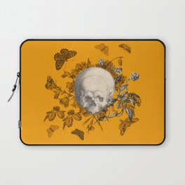 FLORAL SKULL and BUTTERFLIES Laptop Sleeve