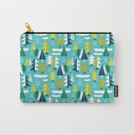 Trees - Xmas Pattern (Blue) Carry-All Pouch