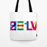 helvetica Tote Bags featuring helvetica 2014 by Type & Junk