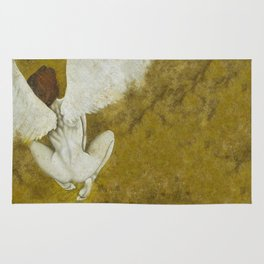 The Gold  Angel Rug