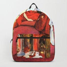 """Henri de Toulouse-Lautrec """"Au Salon de la rue des Moulins"""" Backpack"""