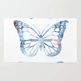 Butterflies Three Blue Clothes Women Rug