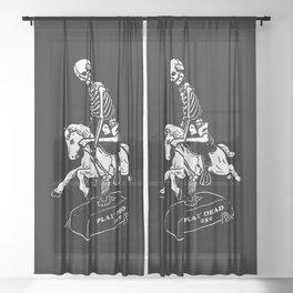 Play Dead Skeleton Sheer Curtain