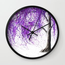 Violet Vale Wall Clock