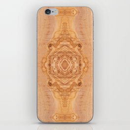 Olive wood surface texture abstract iPhone Skin