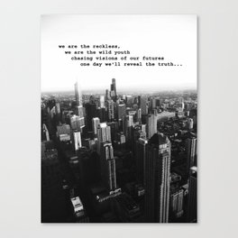 Youth in the City (buildings chicago) Canvas Print