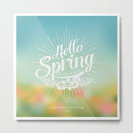 Spring - The Season of Love Metal Print