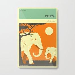 KENYA TRAVEL POSTER Metal Print