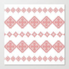 Pattern - Family Unit - Slavic symbol Canvas Print