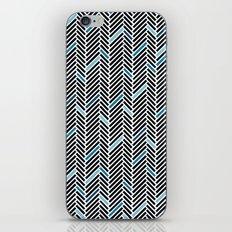 Herringbone Black and Blue iPhone & iPod Skin