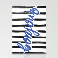 bonjour Stationery Cards featuring Bonjour! by magicmaia