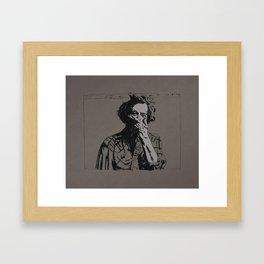Justin Vernon - Bon Iver Framed Art Print
