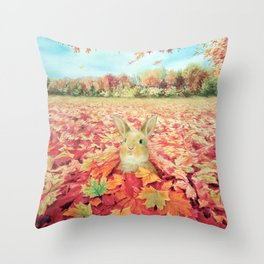 Buried in Autumn Blessings Throw Pillow