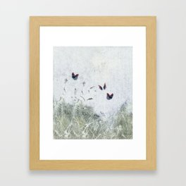 A Spell for Creation - butterflies amongst grass Framed Art Print