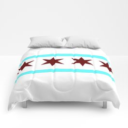 Chicago Flag (traditional) Comforters