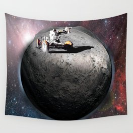 Moon race to the dark side of the moon. Wall Tapestry