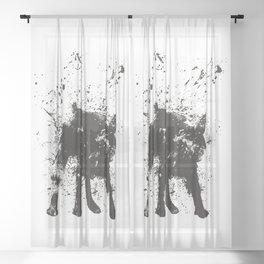 wet dog Sheer Curtain