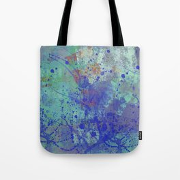 Paint Splatter Abstract Tote Bag