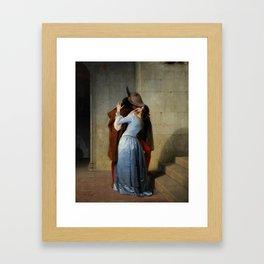 The Kiss (Il Bacio) - Francesco Hayez 1859 Framed Art Print