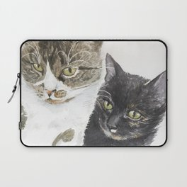 Two cats - tabby and tortie Laptop Sleeve