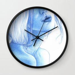 Blue skin Wall Clock