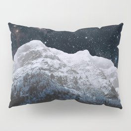 Mountains Attracts Galaxy Pillow Sham