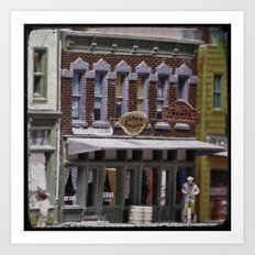 Candy Shoppe: Small Town Downtown 3 Art Print
