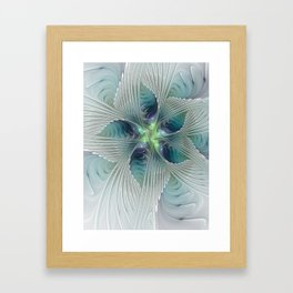 A Floral Fantasy, Abstract Fractal Art Framed Art Print