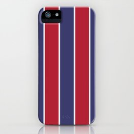 Large Red White and Blue USA Memorial Day Holiday Vertical Cabana Stripes iPhone Case