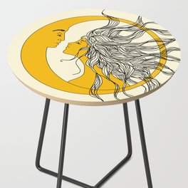 Sun and Moon Side Table