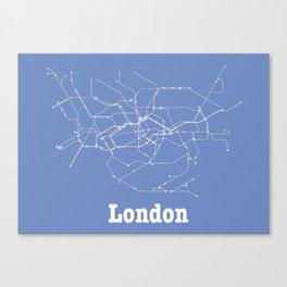 London Subway Poster Canvas Print