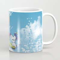 digimon Mugs featuring Digimon Adventure Partners by Jelecy