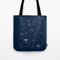 ships Tote Bags featuring Star Ships by Mandrie